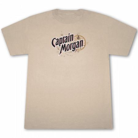 Captain Morgan Las Vegas Girl Tan Graphic T Shirt